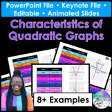 Characteristics of Quadratic Graphs PowerPoint/Keynote Pre