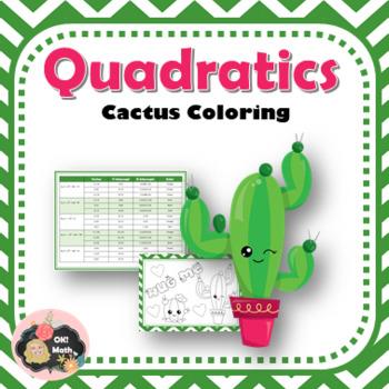 Characteristics of Quadratics Cactus Coloring Activity