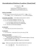 "Characteristics of Rational Functions ""Cheat Sheet"""