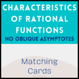 Characteristics of Rational Functions Matching Activity (No Slant Asymptotes)