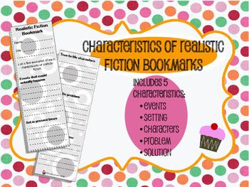 Characteristics of Realistic Fiction Bookmarks