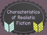 Characteristics of Realistic Fiction Posters