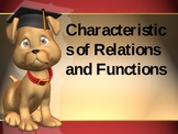 Characteristics of Relations and Functions