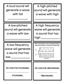 Characteristics of Sound Vocabulary Sort ~ Center Activity