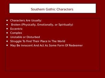 southern gothic literature characteristics