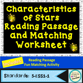 Characteristics of Stars Matching Worksheet or Game