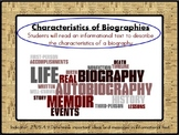 Characteristics of a Biography Lesson (PowerPoint)