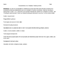 Characteristics of a Civilization Ranking Activity