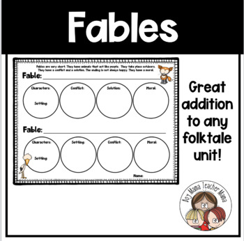 Characteristics of a Fable: Graphic Organizer
