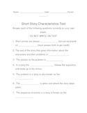 Characteristics of a Short Story Test