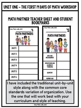 Day 2 of Math Workshop - I am a Strong Math Partner!