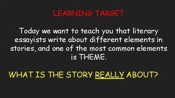Characteristics of a Theme-Based Essay Slideshow