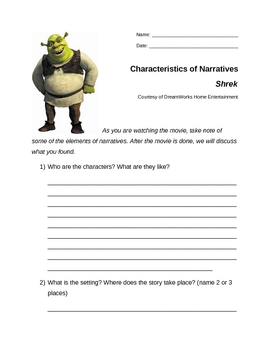 Shrek Unit Worksheets Teaching Resources Teachers Pay Teachers