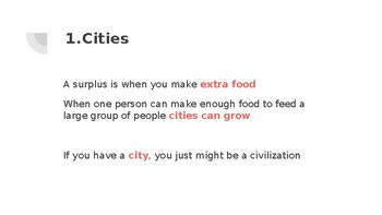 Characteristics of civilization PowerPoint
