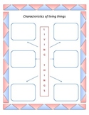 Characteristics of living things Graphic Organizer