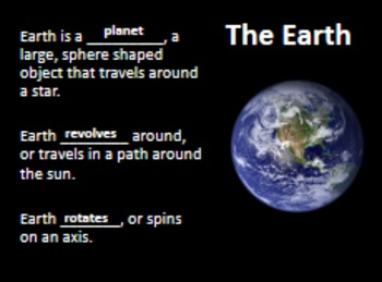Characteristics of the Earth, Sun, and Moon