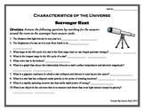Characteristics of the Universe - Scavenger Hunt