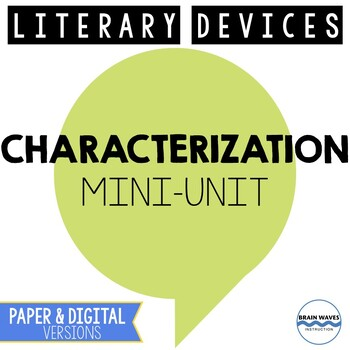 Characterization Lesson Plans - 3 Fun Characterization Lessons