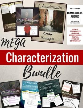 Characterization Mini-lessons MEGA BUNDLE for HS/MS ELA {COMMON CORE ALIGNED}