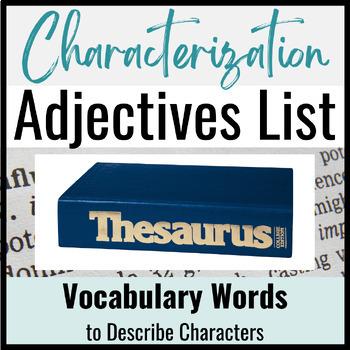 Characterization Adjectives List