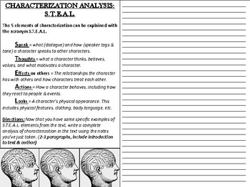 Characterization Analysis S.T.E.A.L.