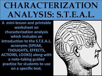 Characterization Analysis S.T.E.A.L.
