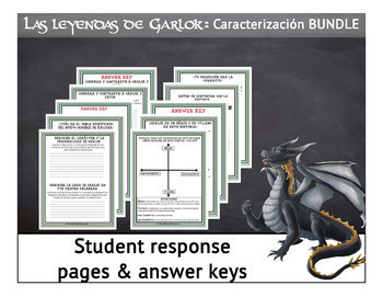 Characterization BUNDLE-5 Spanish Fantasy Stories for Reading Comprehension