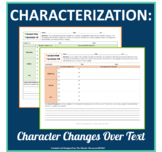 Characterization: Character Changes Over the Text