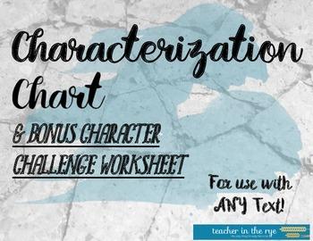 Characterization Chart-Use With Any Text + Bonus Character