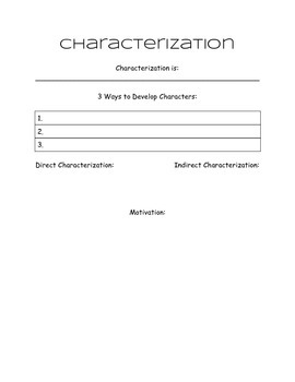 Characterization Chart for interactive notebooks