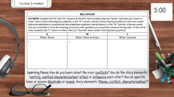 Characterization, Conflict, Setting Analysis with FILM: NO PREP Lesson Plan.RL.3