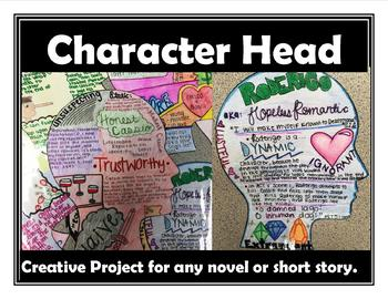 Characterization Creative Novel Project for Any Novel or Story Character Head