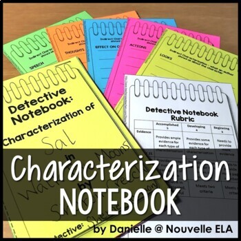 Characterization Detective - Worksheets and Booklet