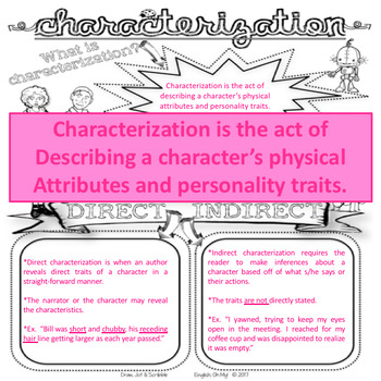 Characterization-Draw, Jot, & Scribble, Doodle Notes