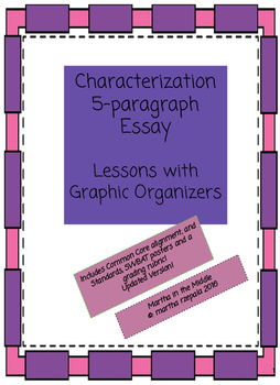 Graphic Organizer for an Academic Essay on Characterization