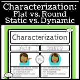 Characterization: Flat, Round, Static, and Dynamic Characters