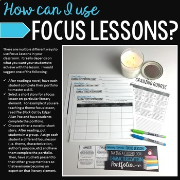 Characterization: Focus Lesson for ANY Novel
