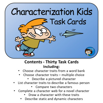 Characterization Kids Task Cards