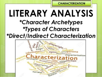 Characterization Literary Analysis