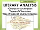 Characterization Literary Analysis