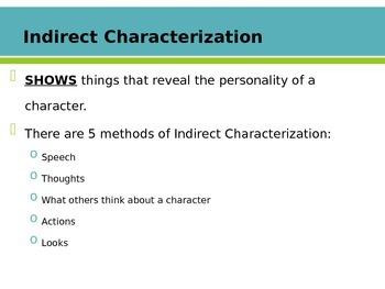 Characterization Literary Analysis Lesson