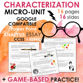 Characterization Minilesson, GAME-BASED with Google Compatible PowerPoint, CCSS!
