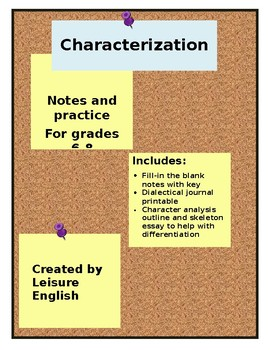 Characterization Notes and Practice