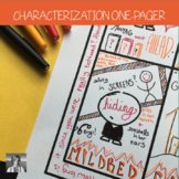 Characterization One-Pager Activity for any Novel