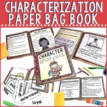 Characterization Paper Bag Book | Distance Learning