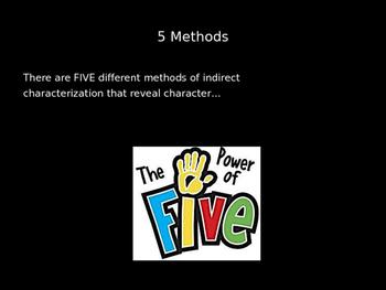 Characterization PowerPoint