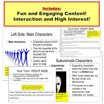 Characterization PowerPoint Lesson Plan