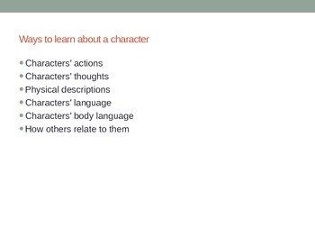 Characterization PowerPoint and Lesson