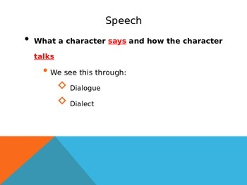 Characterization Powerpoint Notes