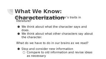 Characterization: Practice
